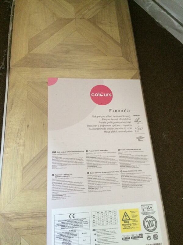 Staccato Oak Parquet Effect Laminate Flooring Brand New