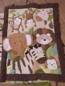 Jungle Animal Crib Bedding Set, Decals and Mobile