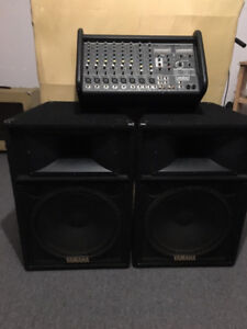 Yorkville/Yamaha 800 Watt PA System - Excellent Condition