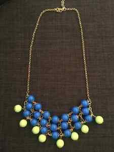 Beautiful boutique retired blue and green necklace *brand new* Kitchener / Waterloo Kitchener Area image 1