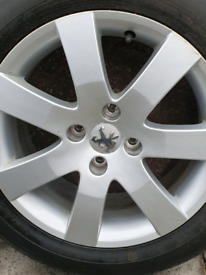2 x new tyres & wheels off a Peugeot 308 sport.