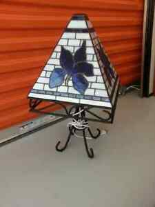 Lampe de table en vitrail - Stained glass table lamp