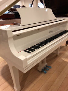NEW Essex 155C White Grand Piano Designed by Steinway & Sons
