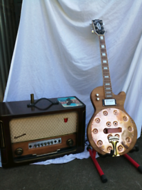 Coppercaster custom made resonator guitar epiphone customised gibson