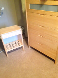 IKEA five drawer dresser and matching night stand! MAKE OFFER!