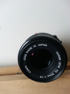 Canon FD Lenses 50mm,135mm,Sigma Mini-wide11, 28-80mm,80-200mm.