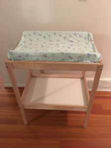 Wooden infant change table