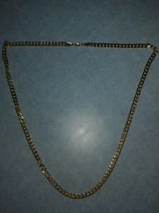 30 inch gold plated chain new never worn