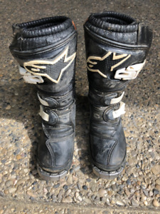 Youth Size 13 Alpine Dirt Bike Boots, Great Condition!