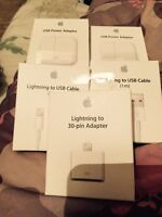 iPhone chargers and adapters