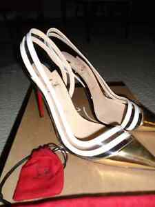REDUCED! AUTHENTIC CHRISTIAN LOUBOUTIN MULTI COLOR SLING BACK