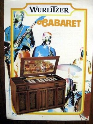 "Wurlitzer Juke Box ""Cabaret"" Flyer publicité2 segunda mano  Embacar hacia Spain"