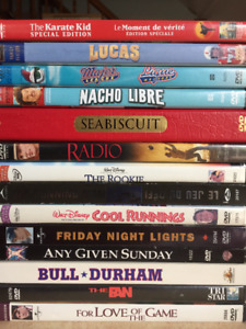 SPORT MOVIE COLLECTION 14 DVDS