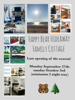 Cottage vacation Rental Red Bay South Bruce Peninsula