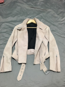 Mackage Pink Suede Leather Jacket