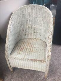Genuine Lloyd Loom wicker chair