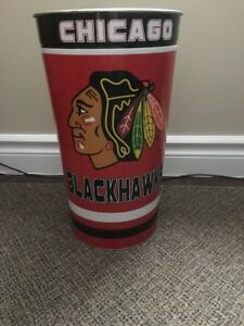 For Sale: Large Chicago Blackhawks Garbage Can