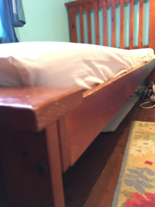 Solid wood mission-style twin bed frame