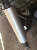 Stock exhaust from a Kawasaki ZX-10R 2004