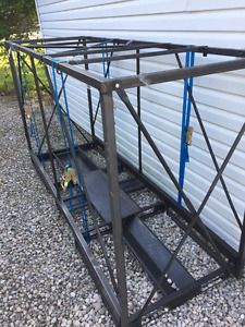 Steel motorcycle shipping container frame - FREE!!!