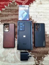 Samsung Galaxy S21 Ultra 5G 128GB Unlocked Like New + Accessories or S
