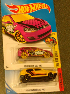 Hotwheels Volkswagen VW Golf Then and Now for sell