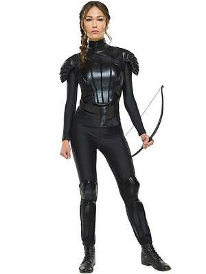 Adult Katniss Rebel Fancy Dress Costume Mockingjay Hunger Games Ladies Outfit (Katniss Mockingjay Kostüm)