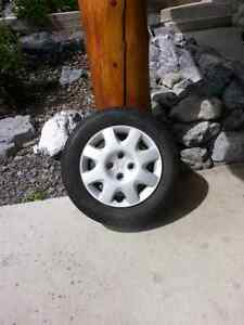 8 tires and rims off Honda civic - $100  almost new