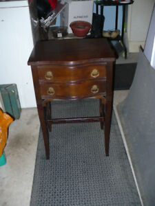 UNIQUE 70 YR OLD 2 DRAWER TELEPHONE TABLE