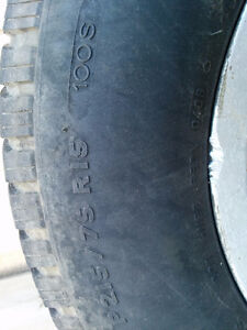 Micheln mud and snow rims / tires for Jeep yj Strathcona County Edmonton Area image 2