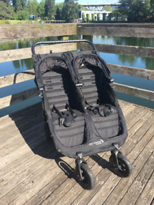City mini GT double stroller by Baby Jogger Black on Black