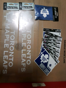 Toronto maple leaf decals and flag