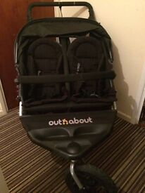 Out-n-about Nipper double pram / buggy + footmuff in great condition