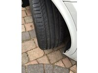 """BMW X5 19"""" inch alloy wheel and tyres set double spoke style, genuine"""