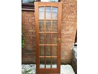 Solid mahogany glazed internal doors