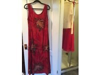 Rustic autumnal long flowing dress