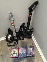ensemble Guitare Hero complet + 3 jeux