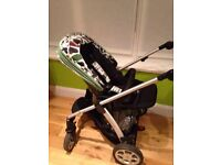 MAMAS AND PAPAS BUGGY, CAR SEAT AND ISOFIX BASE
