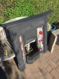 Original cast iron fire place and grate