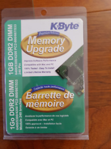 Selling a new and unused 1GB DDR2 memory upgrade , compatible wi
