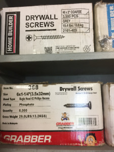 Drywall Screws - from $30/box