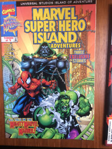Marvel Super Hero Island Comic Pack with cards