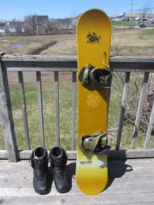 Used Snowboard and Boots