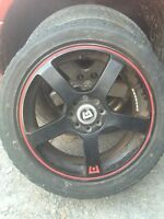 "2 sets / 17"" Rims AND Tires"