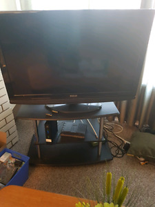 """Rca 40"""" hdtv lcd and stand."""