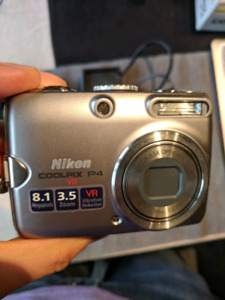Nikon Coolpix P4 VR (8megapixel) with carrying case