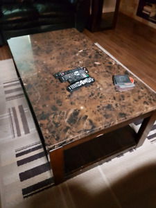 Coffee table and end table $140 or OBO