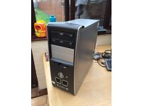 Pc tower with AMD dual core hdmi port Windows 7
