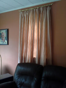 FLOOR LENGTH DRAPE PANEL FOR 3 ft W to 4.5 ft W WINDOW