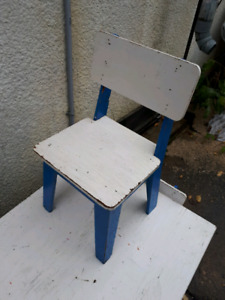 Wooden table and chair set for children
